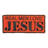 Real Men Love Jesus, Iron On Patch