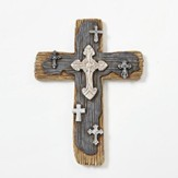 Layered Wall Cross with Wood Finish