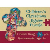 Children's Christmas Puzzle, Cross, 24 Pieces