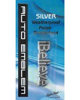 iBelieve Auto Emblem, Silver, Small