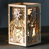Nativity Scene LED Box Lantern