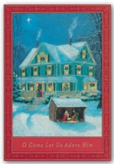 O Come Let Us Adore Him, Christmas Cards, Box of 18