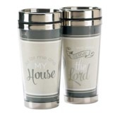 As For Me And My House, Travel Mug, Joshua 24:15, 16 oz.