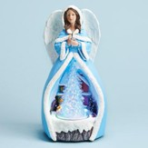 LED Rotating Tree Musical Angel Figurine