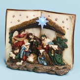Silent Night Musical Nativity Scene Figurine