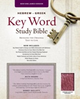 NKJV Hebrew-Greek Key Word Study Bible, Genuine Leather Burgundy - Imperfectly Imprinted Bibles