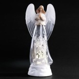 LED Angel & Nativity Scene Figurine