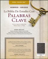 RVR 1960 Hebreo-Griego La Biblia De Estudio Con Palabras Clave Piel Fab. Negro (RVR 1960 Hebrew-Greek Keyword Study Bible Bonded Leather )