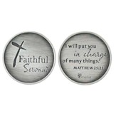 Faithful Servant, Pocket Stone, Matthew 25:23