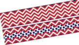 Chevron Bold Red Double-Sided Border