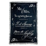 Mr. & Mrs. Tapestry Throw