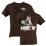 Duck Commander Shirt, Hey Si, Brown Small Duck Commander Series