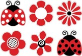 Ladybugs and Posies Accents (Pack of 36)