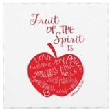 Fruit Of The Spirit, Earthenware Square Trivet, Galatians 5:22, 23