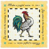 Make A Joyful Noise, Rooster Earthenware Square Trivet