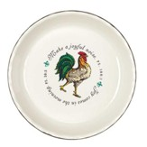 Make A Joyful Noise, Rooster Stoneware Pie Plate