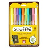 Souffle 3D Opague Matte Pens, Set of 10, Assorted Colors