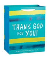 Thank God For You, Blue Stripe Gift Bag