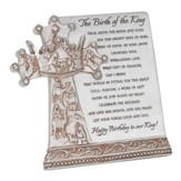 Birth Of The King Resin Plaque, Silver