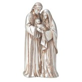 Holy Family Resin Figurine, Silver