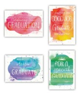 Watercolor Paint Graduation Cards, Box of 12