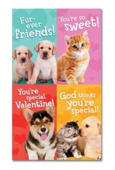 Whiskers and Paws Children's Valentine Cards, Box of 32