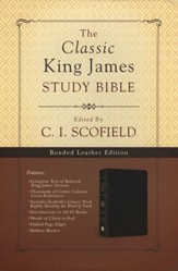 KJV Classic Study Bible, Bonded Leather, Black