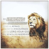 Strong & Courageous, Wall Plaque, Joshua 1:9