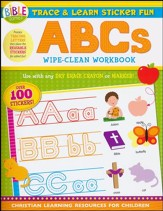 Trace and Learn Sticker Fun: ABC's - Wipe-Clean Workbook