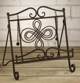 Metal Cookbook Stand with Swirl  Design