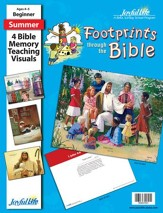 Footprints through the Bible Beginner (ages 4 & 5) Bible Memory Verse Visuals