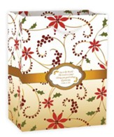 Joy To the World Gift Bag, Red Swirl