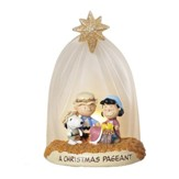 Peanuts Nativity Scene, Tabletop Dome