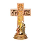 LEG Holy Family Cross Figurine