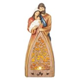 LED Holy Family Laser Figurine