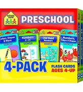 Preschool Flash Cards 4 Pack
