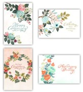 Floral, Anniversary Cards, Box of 12