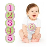 Baby Milestone Stickers, Pink