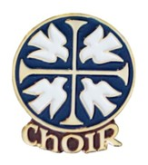 Doves & Cross Choir Pin