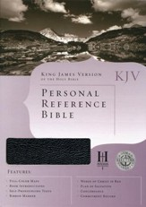 KJV Personal Reference Bible, Black Bonded Leather