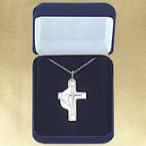 United Methodist Confirmation Cross Pendant, Sterling Silver
