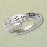 Pure Love Waits Wrap Ring, Sterling Silver, Size 12