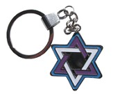 Metal Keyring: Star Of David