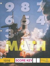 Latest Edition Math PACE SCORE Key 1016, Grade 2