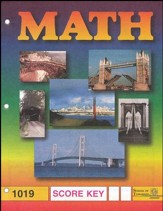 Latest Edition Math PACE SCORE Key 1019, Grade 2