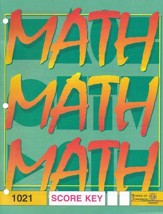 Latest Edition Math PACE SCORE Key 1021, Grade 2
