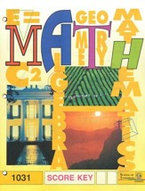Latest Edition Math PACE SCORE Key 1031 Grade 3