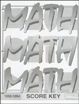 Latest Edition Math PACE SCORE Key 1052-1054 Grade 5
