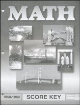Latest Edition Math PACE SCORE Key 1058-1060