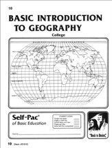 Introduction To Geography Self-Pac 10